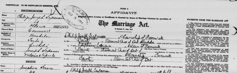 Marriage Registrations